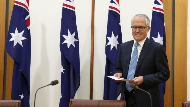 Prime Minister Malcolm Turnbull says his new frontbench will be sworn in on Monday.