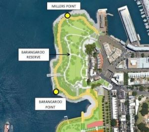 Barangaroo Reserve in the Geographical Names Board's map.