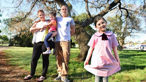 Peggy Willcox with her husband Sean and their daughters Poppy, 3, and Eleanor, 6.
