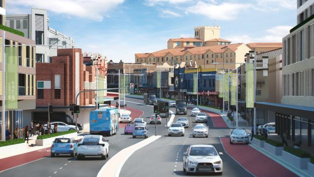 An artist's impression of Leichhardt, following the Parramatta Road renewal