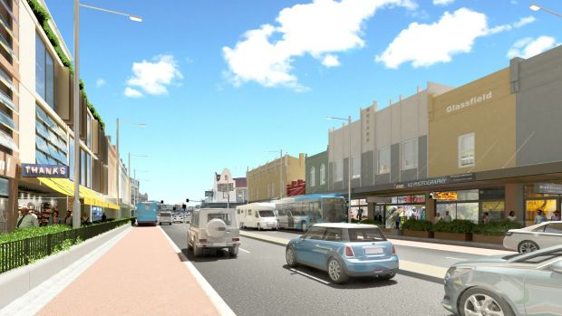Parramatta Road in Leichhardt will look like this after its renewal, according to an artist's impression.