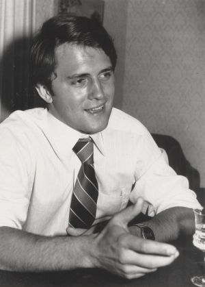 Malcolm Turnbull pictured in 1977 when he was writing for the Bulletin.