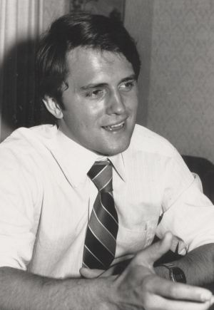 A young Malcolm Turnbull, pictured in 1977 when he was writing for <i>The Bulletin</i>.
