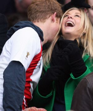Prince Harry and Chelsy Davy during their romance.