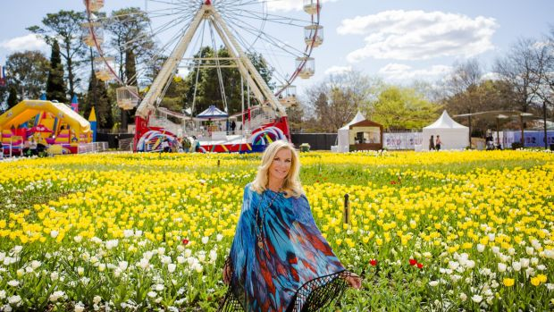 Katherine Kelly Lang from the Bold and Beautiful with her new fashion line of kaftans, at Floriade.