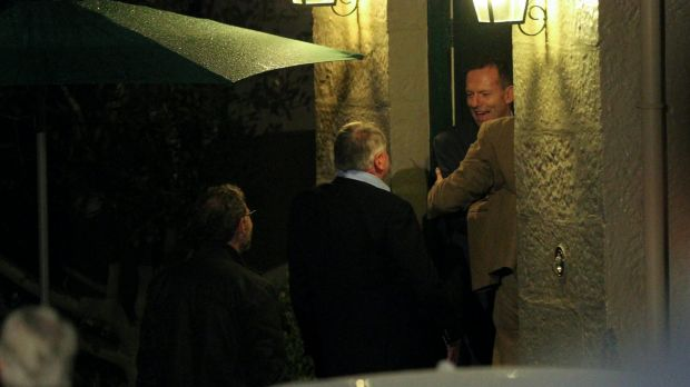 Tony Abbott greeted former schoolmates from Riverview Old Ignatians for their 40th anniversary celebrations at ...
