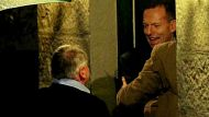 Tony Abbott greets guests outside Kirribilli House on Friday 18/9