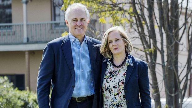 Prime Minister Malcolm Turnbull and his wife, Lucy.