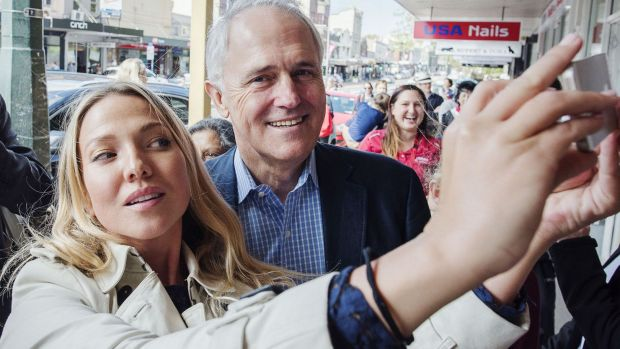 Prime Minister Malcolm Turnbull laps up the Sydney public's adulation.