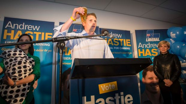 Andrew Hastie toasts the memory of Don Randle.