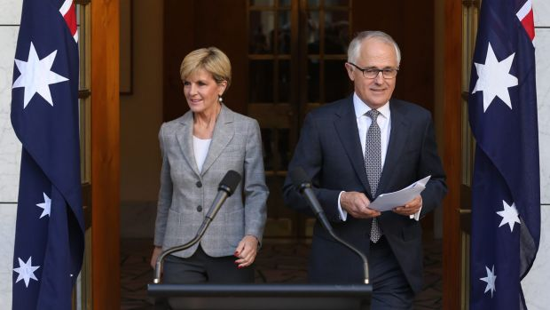 Prime Minister Malcolm Turnbull announced his new ministry on Sunday with Julie Bishop.