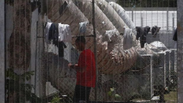 A detainee at the Manus detention centre, pictured last year.