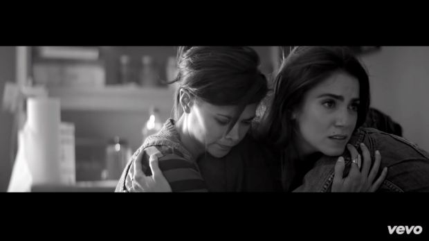 Still from Lady Gaga's song raising awareness about sexual abuse on American college campuses: 'Til it Happens to You'.