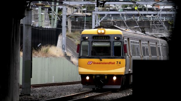 Trains were briefly suspended after a person was seen on the tracks between Central and Roma Street stations.