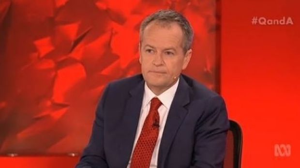 Difficult night ... Bill Shorten faced many difficult questions from audience members and host Tony Jones on Q&A, which ...