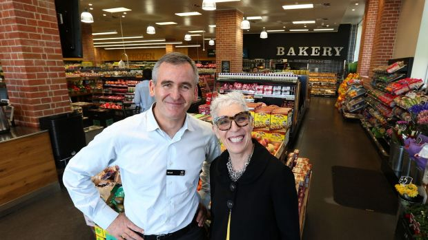 Woolworths' Brad Banducci and OzHarvest's Ronni Kahn have formed a partnership to reduce food waste.