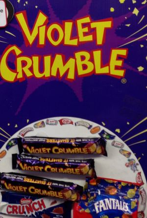 The Violet Crumble showbag.