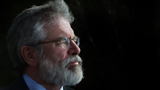 "Sinn Fein president Gerry Adams: ""This is a choice between whether you want a society that is fair and equal or more of ..."