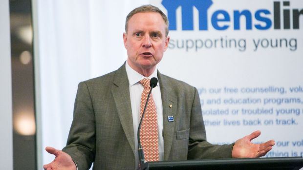 Lieutenant-General David Morrison, retired chief of the Australian Army, at the Menslink breakfast.