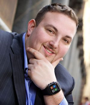 """IoT Group chief executive Simon Kantor wearing the OK Viper Phone Watch. Kantor says smart watches are the """"entry level"""" ..."""
