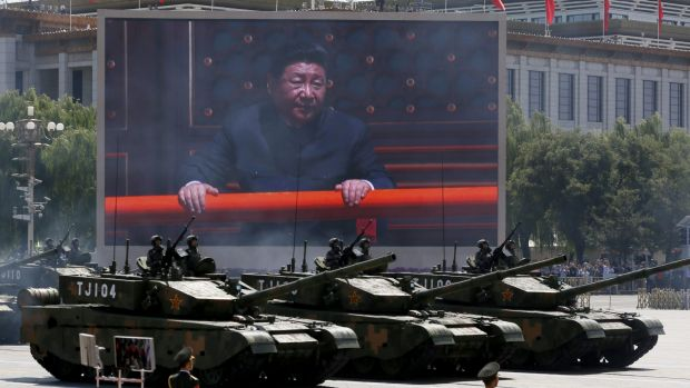 Xi Jinping is seen at a major parade of military hardware in Beijing earlier this month commemorating the 70th ...