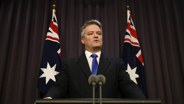 "Finance Minister Mathias Cormann would not repeat Malcolm Turnbull's assertion that ""increasing capital gains tax is no ..."