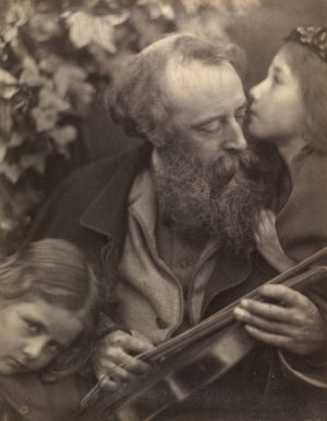 Julia Margaret Cameron's 1865 photograph 'Whisper of the Muse' is in a similar style to that used by the Pre-Raphaelite ...