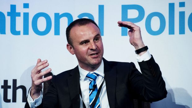 Not happy: ACT Chief Minister Andrew Barr.