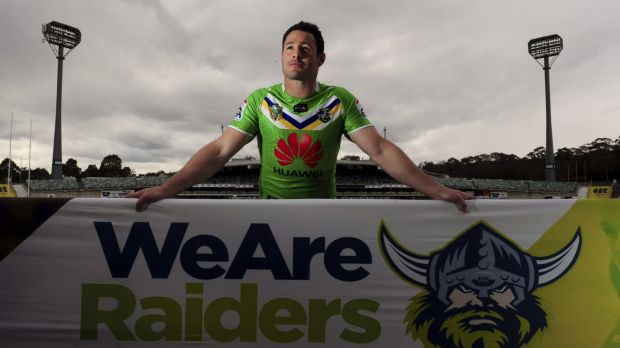 Brett White ahead of his final match for the Raiders in September last year.