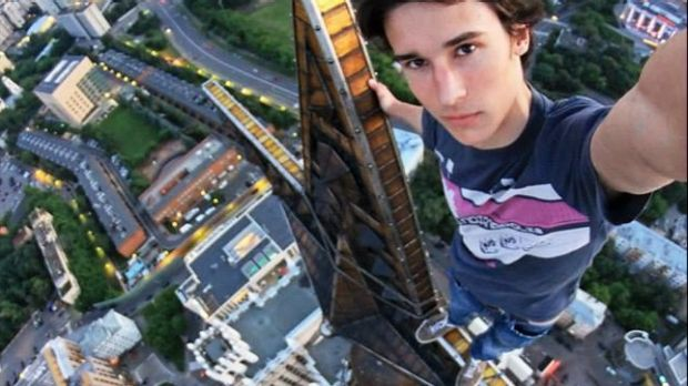 Extreme selfie poseur, Kirill Oreshkin (still alive). The Russian government has launched a campaign against such ...