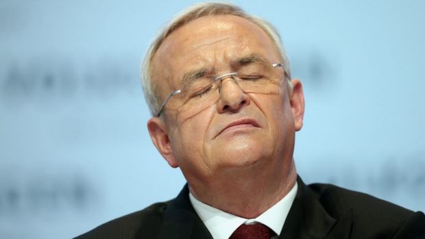 Volkswagen CEO Martin Winterkorn: 'I am clearing the way for this fresh start with my resignation.'