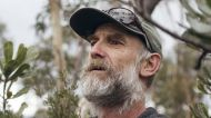 Portrait of Tim Gardner, who lives a couple of months a year in the Blue Mountains wildnerness. Photographed nearby ...