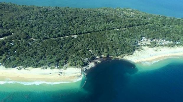 As captured by Higgins Storm Chasers, the erosion-hole that claimed a caravan and a car at Inskip Point, and triggered ...