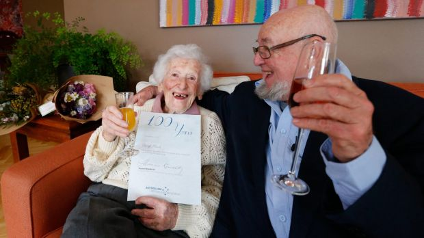 Instead of a letter from the Queen, the Australian Republic Movement presented 100-year-old, Beryl Nichol with letter ...