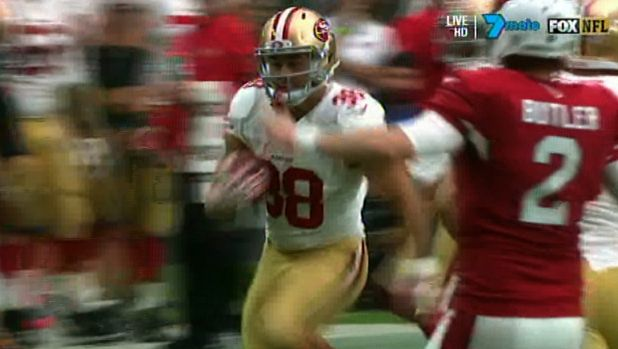Slippery: Former Eel Jarryd Hayne darts down the touchline on his way to a highlight reel play.