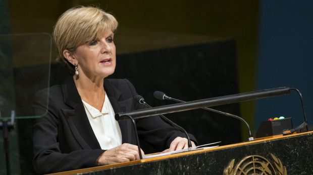 Foreign Minister Julie Bishop at the United Nations.