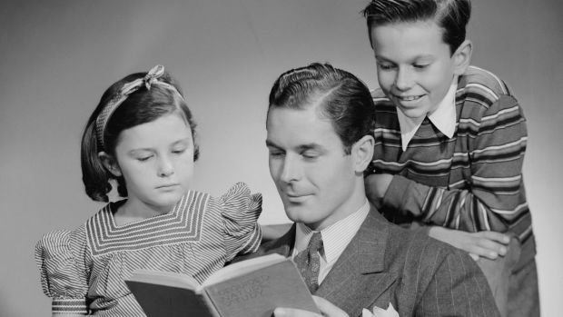 A dad who enjoyed reading to his children might like the favour returned for Father's Day.