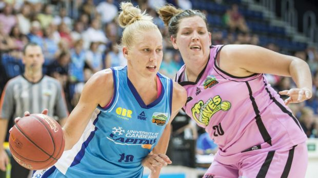 Sport. January 9th 2015.  Round 12 of the Women's National Basketball League.  The Canberra Capitals v The West Coast ...