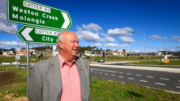 Weston Creek Community Council chairman Tom Anderson says the unduplicated section of Cotter Road has become a major ...