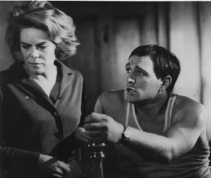 Richard Harris and Rachel Roberts in <i>This Sporting Life</i>.