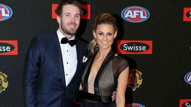 With long-term partner Taylor Wilson at the 2015 Brownlow Medal count.