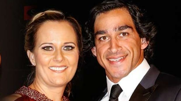 Thurston and Samantha Lynch at the Dally M awards in Sydney.