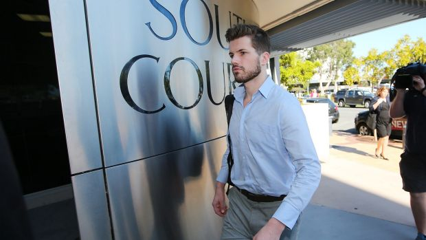 Gable Tostee arrives at Southport Magistrates Court in September 2015.