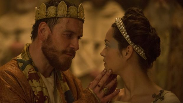 Michael Fassbender and Marion Cotillard in <i>Macbeth</i>.