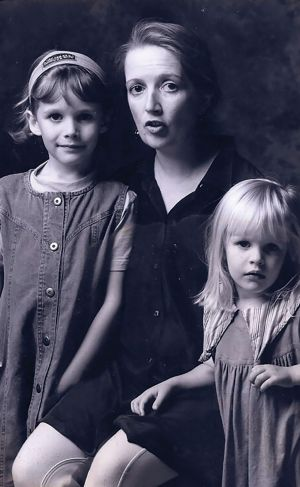 Jane Caro, with her daughters, Polly and Charlotte, from her memoir Plain-speaking Jane, published by Pan Macmillan ...
