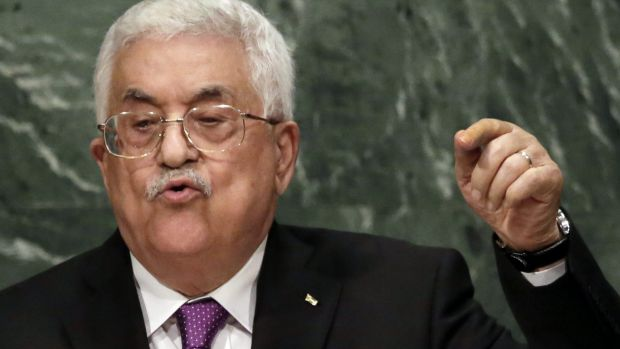 Palestine's President Mahmoud Abbas addresses the 70th session of the United Nations General Assembly on Wednesday.