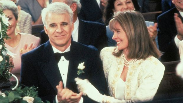 Steve Martin with Diane Keaton in <i>Father of the Bride</i>.