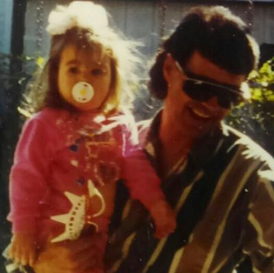 """Demi Lovato shared this throwback snap with her father, who passed away following a cancer battle in 2013. """"My guardian ..."""