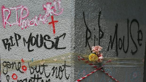 Tributes left to Wayne 'Mouse' Perry.