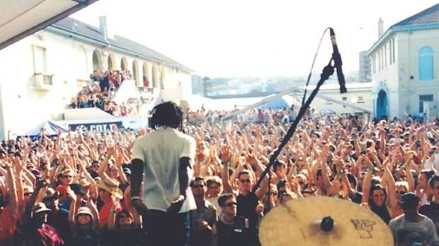 Vibes on a Summer's Day, back in the day, at the Bondi Pavillion.